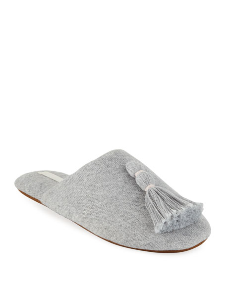 Skin Slippers VARA TASSELED KNIT SLIPPER WITH COOLING MATERIAL