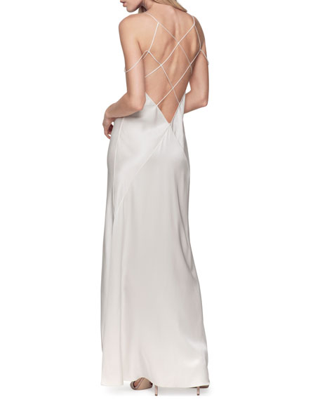 Cage Long Silk Nightgown