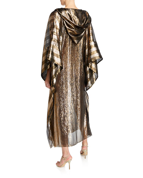 Metallic Hooded Caftan