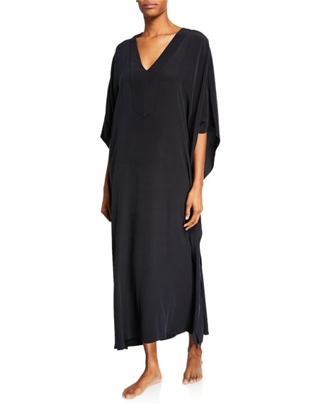 Long Placket Silk Caftan