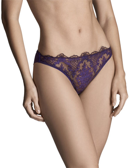 Image 1 of 1: Endless Night Lace Thong