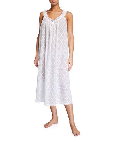 Elaine Sleeveless V-Neck Nightgown
