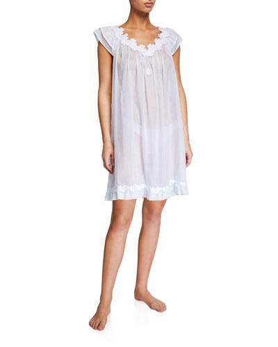 Palace Cap-Sleeve Poplin Nightgown