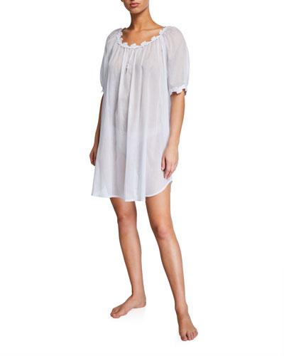 Palace Short-Sleeve Lace-Trim Chemise