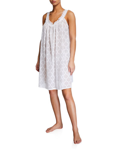 Elaine Sleeveless Mousseline Babydoll Nightgown