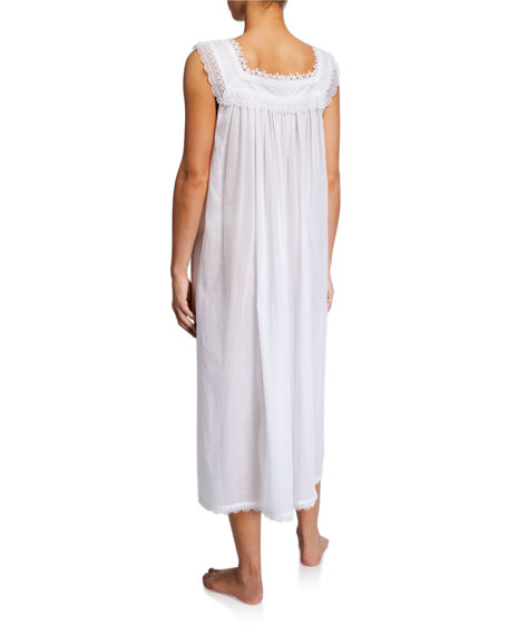 Selina Sleeveless Square-Neck Nightgown