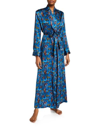 Brindisi Long Silk Robe