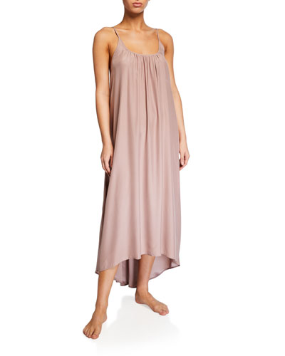 Silk Charmeuse High-Low Slip Gown