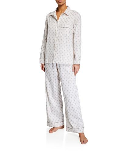 Fleur de Lis Sateen Pajama Set