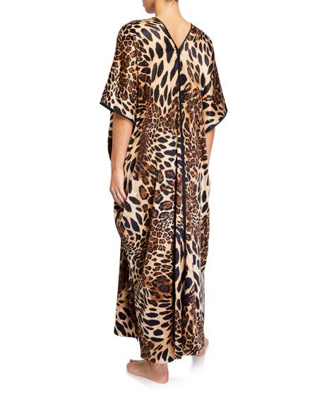 Luxe Leopard Satin Caftan