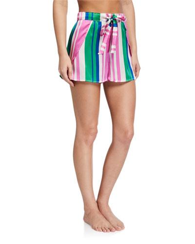 Gigi Striped Silk Shorts