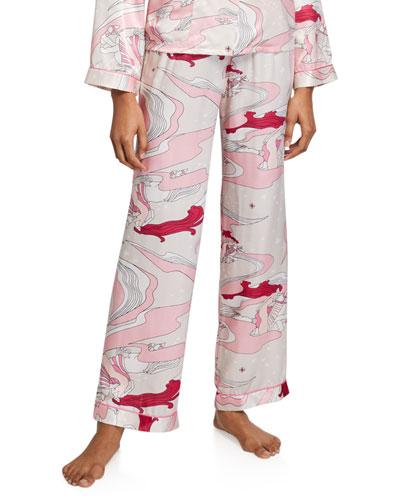 Chantal Swirl Silk Pajama Pants