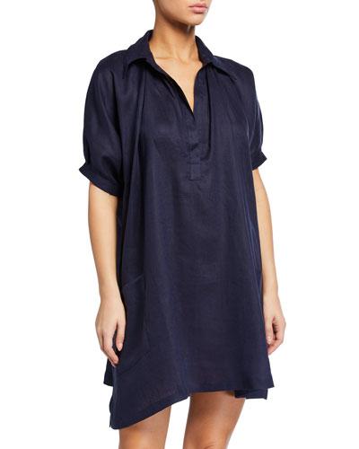 Linen Swing Short Nightgown