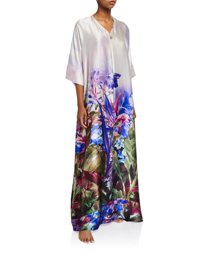 South Pacific Zip-Front Caftan