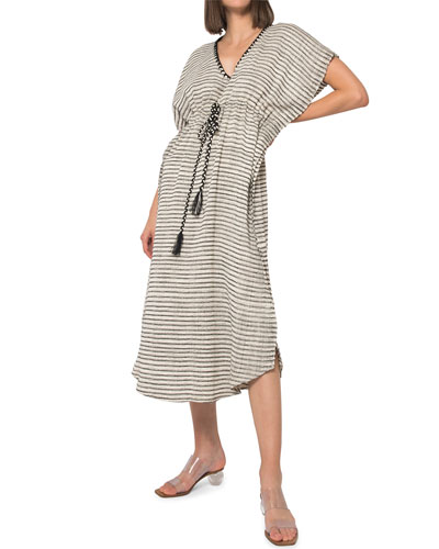 Camila Striped Hand-Woven Caftan