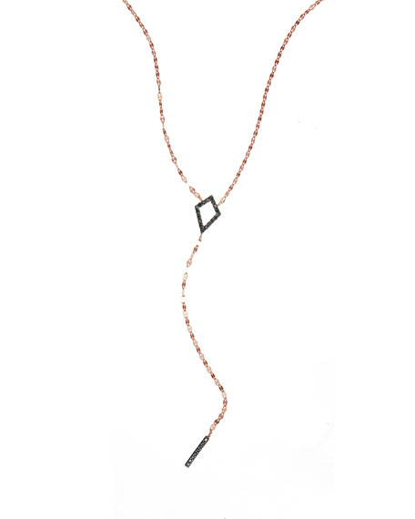 Reckless Diamond Bar Lariat Necklace