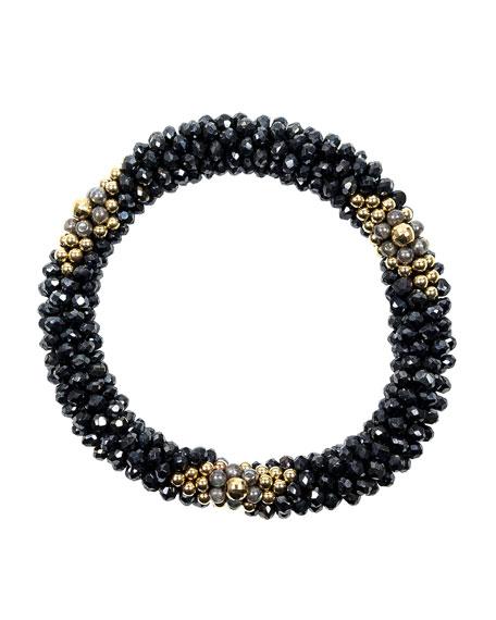 14k Gold, Spinel and Labradorite Bead Bracelet