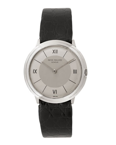 Patek Philippe 18k White Gold Round Dress Watch, c. 1950s