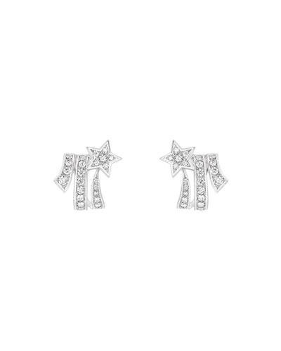 Chanel ComÈte Earrings In 18k White Gold With Diamonds