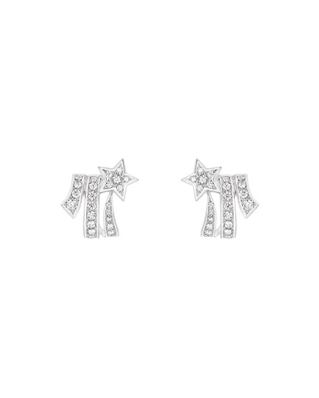 COMÈTE Earrings in 18K White Gold with Diamonds