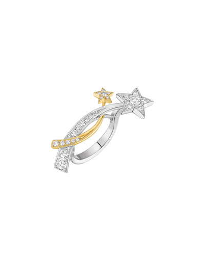 COMÈTE Ring in 18K White & Yellow Gold with Diamonds
