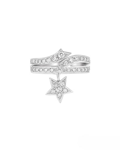 COMÈTE Ring in 18K White Gold with Diamonds