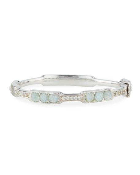 Jude Frances Cushion Labradorite & Quartz Moroccan Bangle