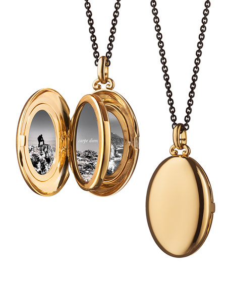 18K Yellow Gold Four-Picture Locket with Diamonds