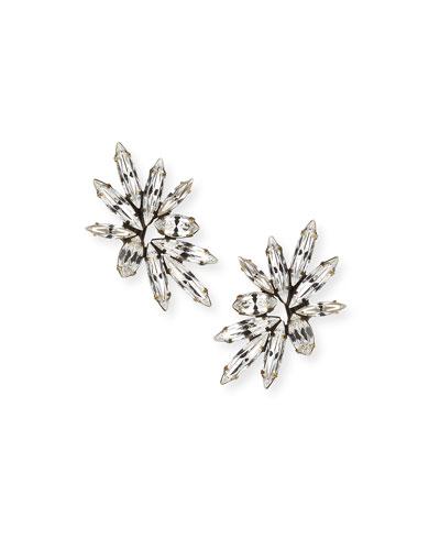 Harper Crystal Clip-On Earrings