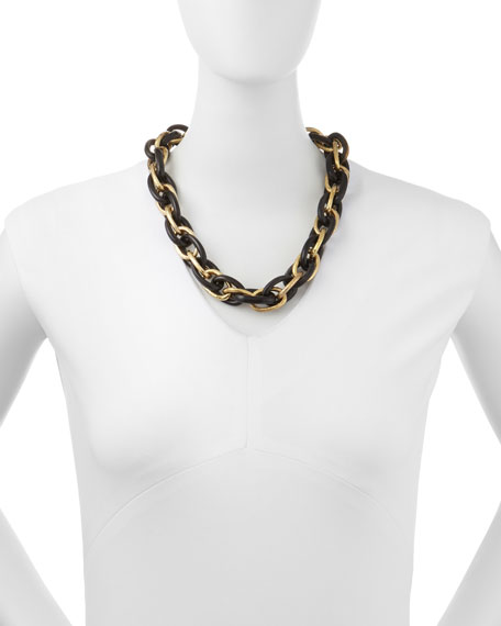 Ndovu Dark Horn & Bronze Necklace