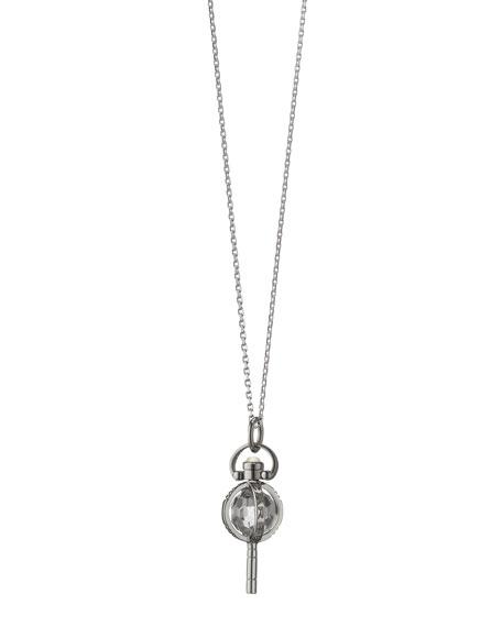 "Mini Silver Carpe Diem Pendant Necklace, 17""L"