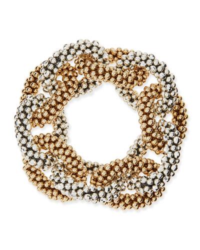 Elsa 14k Gold and Sterling Silver Link Bracelet