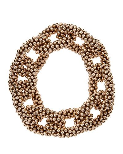 Elsa 14k Gold Beaded Link Bracelet