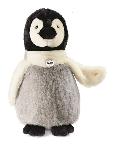 Penguin Stuffed Animal, Gray