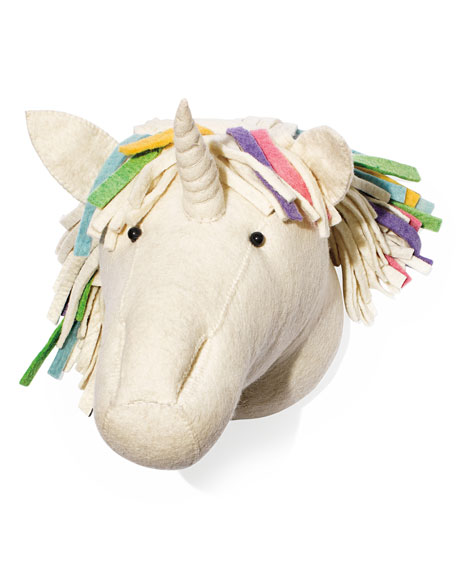 Rainbow Unicorn Head Wall Mount