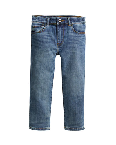 Boys' Relaxed Faded Denim Jeans  Size 4-14