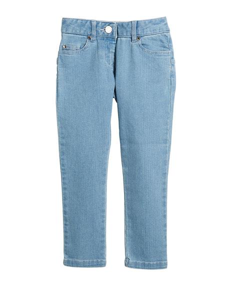 Star-Back Denim Trousers, Size 12