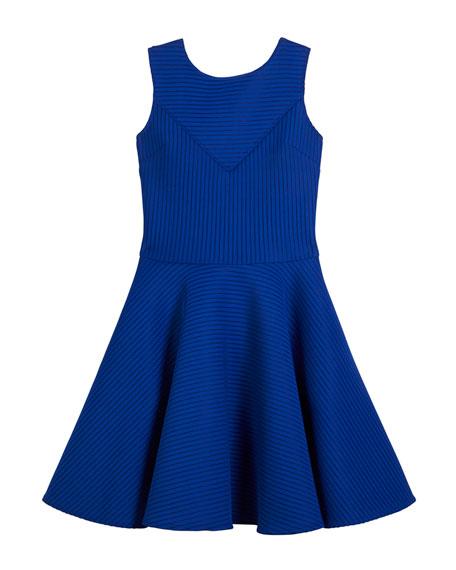 Sleeveless Pinstripe Dress, Size 8-16