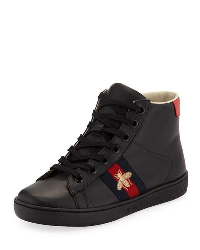 New Ace Leather High-Top Sneakers  Kids