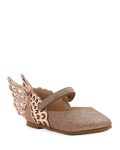 Evangeline Glittered Butterfly-Wing Flats  Toddler