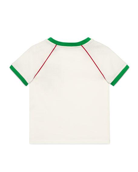 Gucci Strawberry Patch T-Shirt, Size 4-12