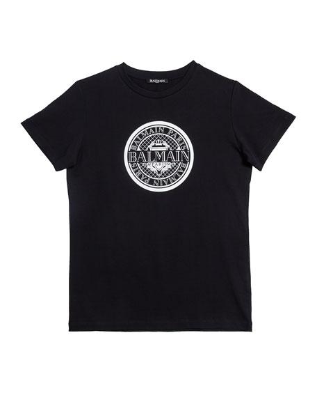 Short-Sleeve Coin Logo Tee, Size 4-10