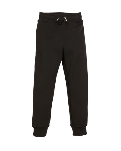 Logo-Sides Cotton Sweatpants  Size 12-16