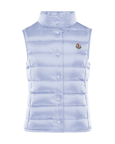 Liane Quilted Snap-Front Vest  Size 4-6