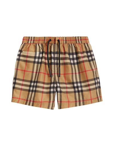 Galvin Check Swim Shorts  Size 6M-2