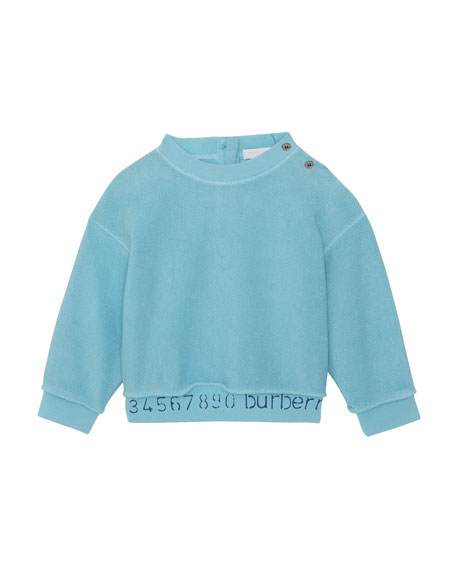 Image 1 of 1: Damien Logo & Numbers Long-Sleeve Knit Top, Size 6M-2