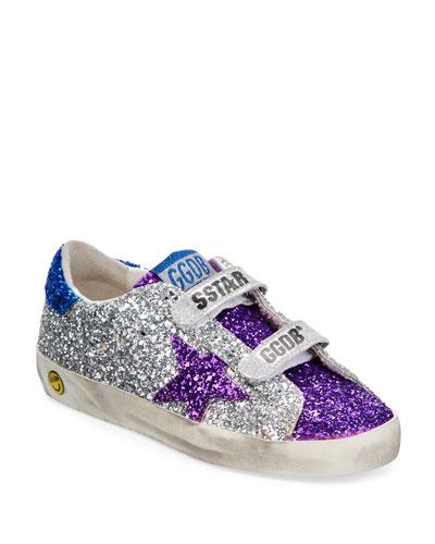 Old School Glitter Sneakers  Kids