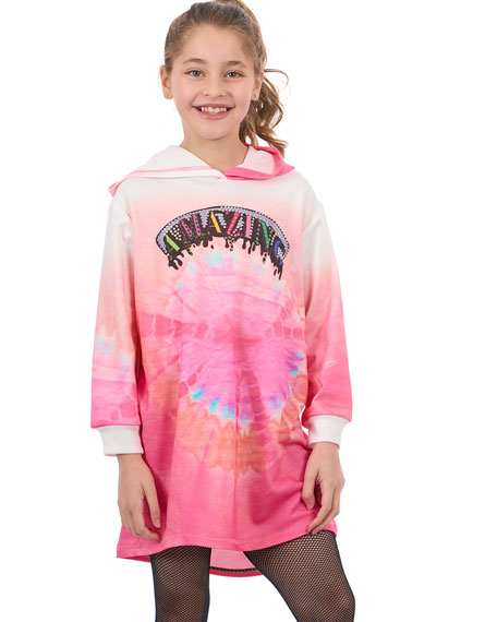 Amazing Tie Dye Sweatshirt Dress, Size 7-14