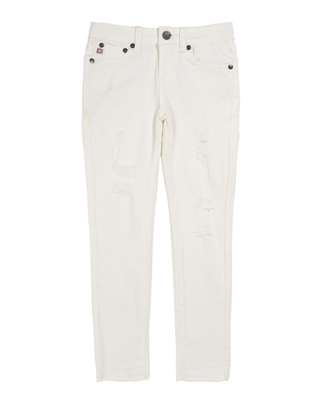 Image 1 of 1: Girls' The Daily Distressed Skinny Jeans w/ Release Hem, Size 7-14