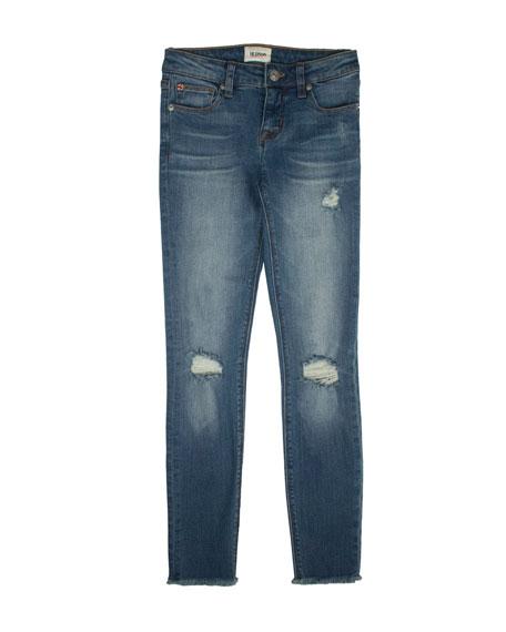 Girls' Christa Distressed Release-Hem Skinny Jeans, Size 7-16